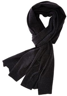 Patrol Knit Scarf - Charcoal - A luxurious and classic scarf for your warmth and styling needs. Jersey knit with rib trim at both ends and edges of scarf. - 100% Merino Wool. - Length: 80 inches 18.5 inches. - Imported.