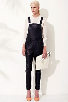 3.1 phillip lim tesort 2013 - leather overalls