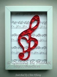 @ Manuk- Quilled treble clef pictures (Searched by Châu Khang)