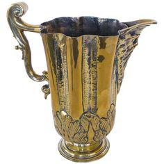 """Iberian (Spain/Portugal) Silver Form Brass Ewer or """"Jarro De Pico,"""" circa 1600 