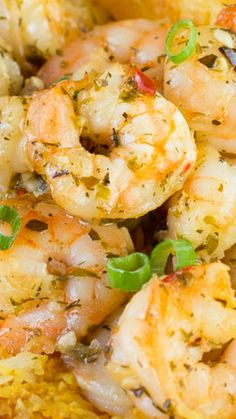 Lemon and Garlic Shrimp and Spaghetti Squash ~ Easy to make and delish