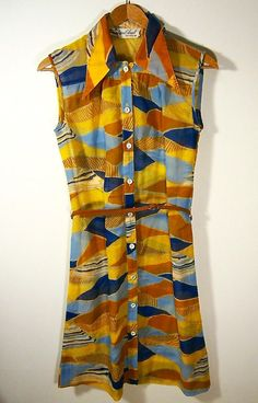 Vintage Early 1960s Susan Small Shirt / Sun Dress by HouseholdPets