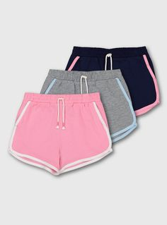 Buy Navy, Pink & Grey Jersey Shorts 3 Pack - 6 years at Argos. Thousands of products for same day delivery or fast store collection. Bright Shorts, Tailored Suits, Jersey Shorts, Mens Sale, Navy Pink, Summer Wear, Short Girls, 6 Years, Work Wear