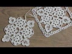 Tığişi Örgü Kare Dantel Motifi Yapımı, Masa Örtüsü, Sehpa Örtüsü & Crochet - YouTube