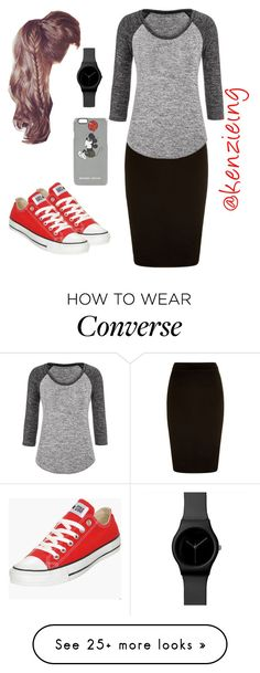"""Converse & High-Ponies"" by kenzieing on Polyvore featuring maurices, Markus Lupfer, Converse, modestishottest and ApostolicFashion"