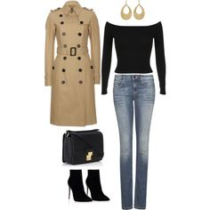 A fashion look from January 2015 featuring Burberry coats, MANGO jeans and Miss Selfridge. Browse and shop related looks.