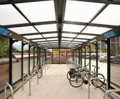 Exled's Nebula linear fitting in a cycling parking hub