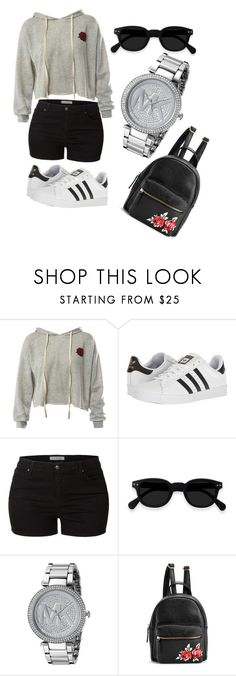 """""""Untitled #6"""" by banu94 ❤ liked on Polyvore featuring Sans Souci, adidas, LE3NO and Michael Kors"""