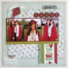 graduation Scrapbook Layouts | Proud...Graduation Layout | Scrapbooking Ideas by leanne