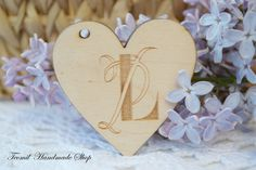 Personalized Name Tags, Wooden Heart Wedding Placecard, Hearts Gift Tags, Table Place Setting by Teomil on Etsy