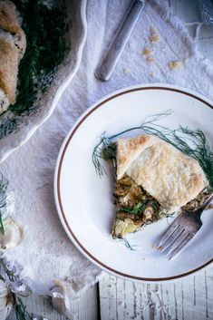 Local Milk | foraging + wild mushroom, fennel, & dancing fern galette