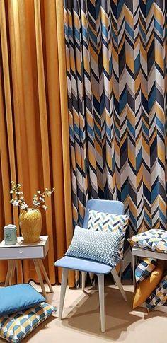 Ötvenedik, jubileumi Heimtextil 2020. Pattern Curtains, Curtain Patterns, Curtains Living, Home Textile, Design Trends, Textiles, Living Room, Interior, Home Decor