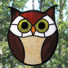 Stained glass owl | Owl stained glass | OWLS