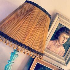 #vintage #lampshade #silk #lamp #portrait