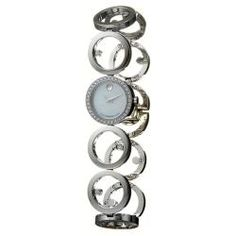 Shop for Movado Women's 'Ono' Stainless Steel Quartz Diamond Watch. Ladies Dress Watches, Circular Pattern, Online Watch Store, Stainless Steel Bracelet, Jewelry Watches, Diamonds, Quartz, Sparkle, My Favorite Things