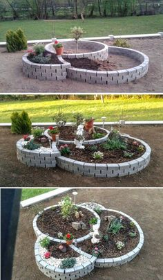 raised garden beds diy diy raised garden small vegetable gardens vegetable garden diy vegetable garden design raised garden building raised garden beds has many rewards to it its the kind o raisedgarden bedsdiy Garden Yard Ideas, Garden Projects, Garden Art, Diy Projects, Garden Pond, Brick Garden, Garden Ideas With Bricks, Patio Ideas, Backyard Ideas