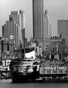 Paquebot Normandie à New-York, années 30