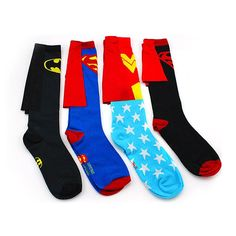 Wholesale cheap  online, as pic   - Find best  1 pair new socks men sport cotton superman batman long superhero socks with cloak football socks 4 colors 2120021 at discount prices from Chinese men's socks supplier - szloop on DHgate.com.