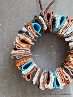 DIY leather wreath - Jennifer Rizzo