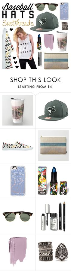 """Baseball + Jays + Toronto"" by levon-3redthreads on Polyvore featuring New Era, Polaroid, Casetify, Lime Crime, Ray-Ban, Bobbi Brown Cosmetics, Forever 21, baseballcap and baseballhats"