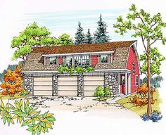 Step one: build an apartment above a workshop. Live there while we save money to build the green, energy efficient, self-sustaining home of our dreams. Building Design, Building A House, Carriage House Plans, Retirement Ideas, Garage Apartments, Passive House, Shop Layout, Cabins And Cottages, Earthship