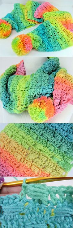 Crochet Unicorn Track Scarf
