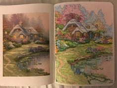Amazon Posh Adult Coloring Book Thomas Kinkade Designs For Inspiration Relaxation