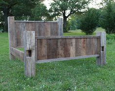 Rustic timber bed frame