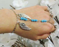 Slave Bracelet Angel Wing Bracelet Ring by TheMysticalOasisGlow, $20.00