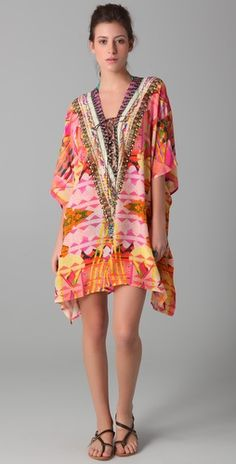 Camilla Circus Short Lace Up Caftan, love the shape.