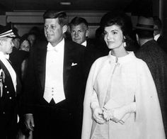Jackie Kennedy and John F. Kennedy at her husband's inaugural ball in 1961.