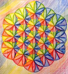 Geometric designs using a compass -- this one turned out so beautiful!