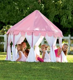 pavilion play tent, i would love to make this for my daughter in our backyard, she could have her very own gazebo and kiddie patio set for all the outdoors parties and cookouts :)