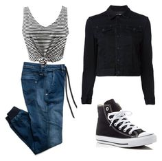 """""""Monday Me"""" by gigihead on Polyvore featuring Converse and Replay"""