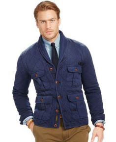 Polo Ralph Lauren Quilted Terry Shawl Cardigan