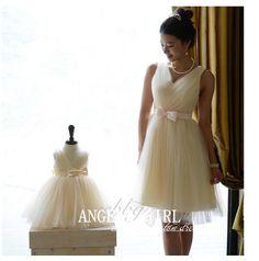 HandMade Mother Daughter Matching TUTU Dress Wedding by Angelagirl, $148.00