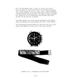 """NASA Velcro watchband marked by ink stamp and """"S/N Old Watches, Vintage Watches, Watches For Men, Watch Ad, Men Watch, Speedmaster Professional, Watch This Space, Omega Speedmaster, Ink Stamps"""