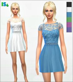 Irida Sims 4: Dress 38_IS4 • Sims 4 Downloads