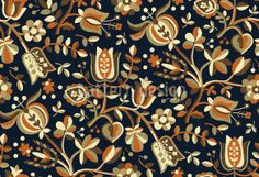 Autumn bells are ringing! Cute seamless pattern designed by Irina Arnautu, available on patterndesigns.com