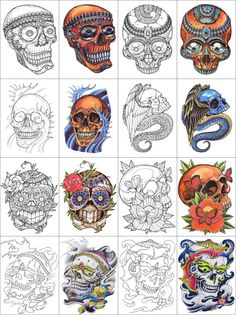 Day of the Dead, dia de los muertos, Sugar Skull, Coloring pages colouring adult detailed advanced printable Kleuren voor volwassenen coloriage pour adulte anti-stress kleurplaat voor volwassenen https://www.etsy.com/listing/235207703/30-printable-coloring-pages-outlines?ref=shop_home_active_6