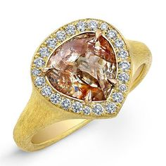 Brides Magazine: Engagement Rings With Colored Stones