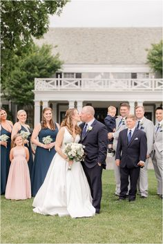 bride and groom kiss with bridal party behind them at Forsgate Country Club | Summer Forsgate Country Club wedding day in New Jersey photographed by Idalia photography, NJ wedding photographer. Need inspiration for your summer wedding day? Find more here! #IdaliaPhotography #ForsgateCountryClub #SummerWedding Summer Wedding, Wedding Day, Bridal Parties, Country Club Wedding, Bridesmaid Dresses, Wedding Dresses, New Jersey, Groom, Kiss
