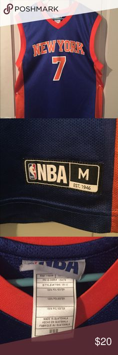 New York Knicks Carmelo Anthony jersey It has been worn, it also has slight cracking on the number on the back nba Other