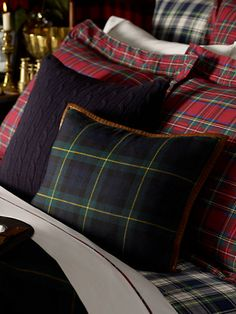 Tartan pillows by Ralph Lauren