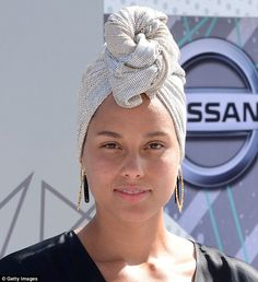 Baring it all: Alicia Keys, 35, went make-up free to perform her new song, In Common