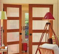 interior french doors by masonite for the doors into the den?