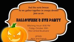 halloween party invitations in spanish