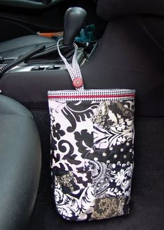 """Free Car Trash Bag Sewing Tutorial by Stephanie of """"A Ditchin Time Quilts"""""""