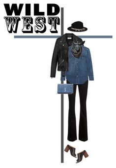 """28/365: Wild Wild West"" by liska-lis ❤ liked on Polyvore featuring Frame Denim, Yves Saint Laurent, Alexander McQueen, Zara and Givenchy"