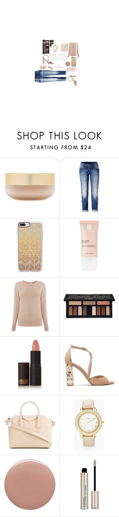 """""""Fall Neutrals"""" by hey-59544 ❤ liked on Polyvore featuring Eve Lom, Casetify, La Roche-Posay, Oasis, Kat Von D, Lipstick Queen, Burberry, Givenchy, Chico's and Tom Ford"""